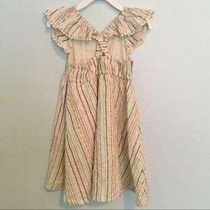 Old Navy Dresses - Flutter Sleeve Striped Dress with Pom-Pom trim